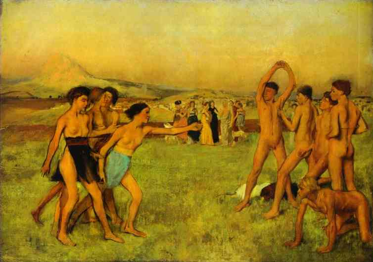 famous painting Spartans novo que exercita of Edgar Degas