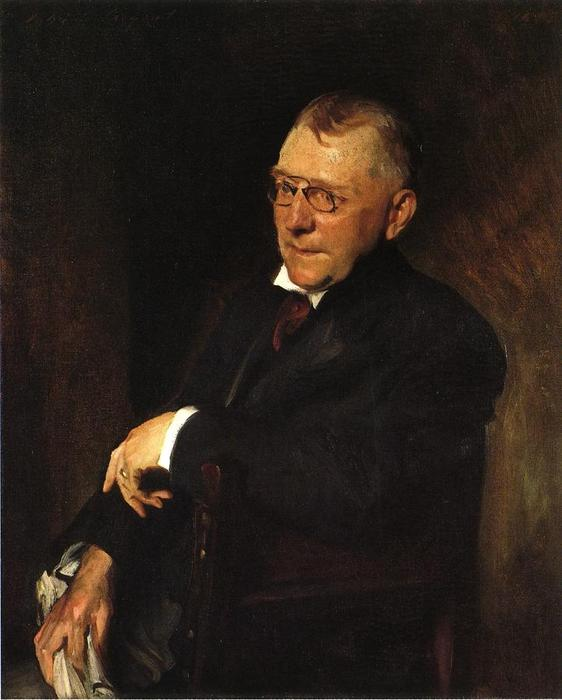 famous painting Retrato de james whitcomb riley of William Merritt Chase