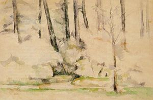 Paul Cezanne - Dentro da floresta
