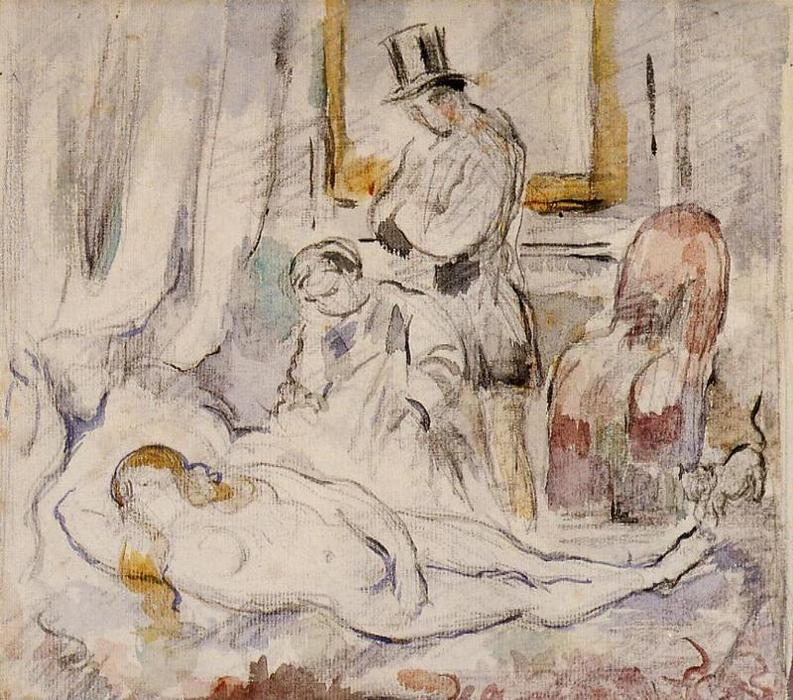 famous painting Olympia of Paul Cezanne