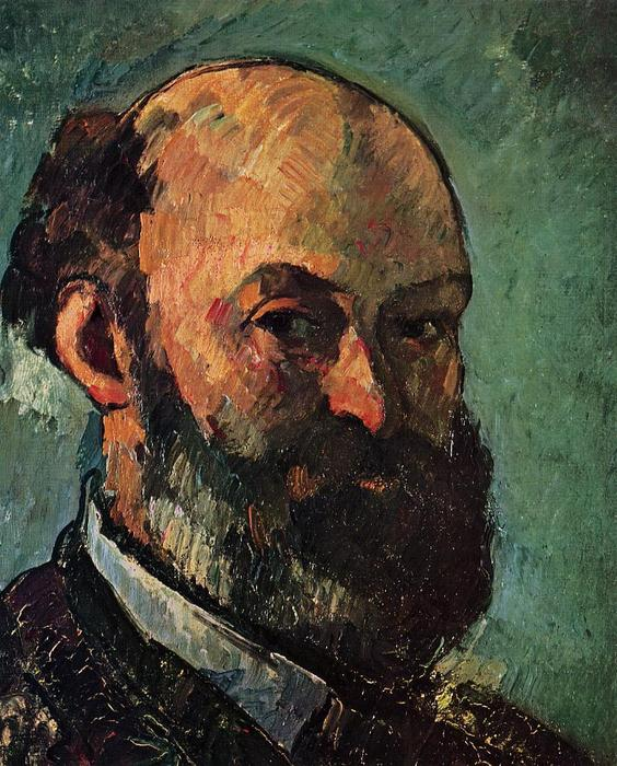 famous painting Auto Retrato of Paul Cezanne