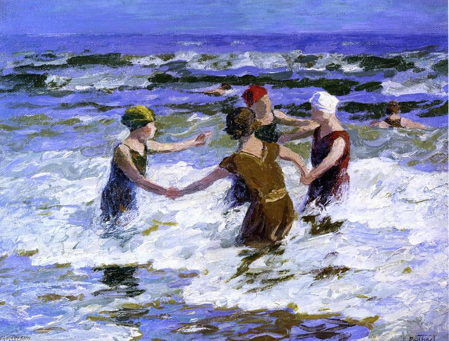 famous painting praia divertido of Edward Henry Potthast