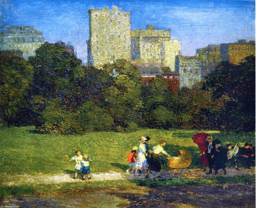 famous painting Em Central Park of Edward Henry Potthast
