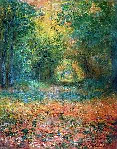 Claude Monet - O Rasteira na Floresta de Saint-Germain