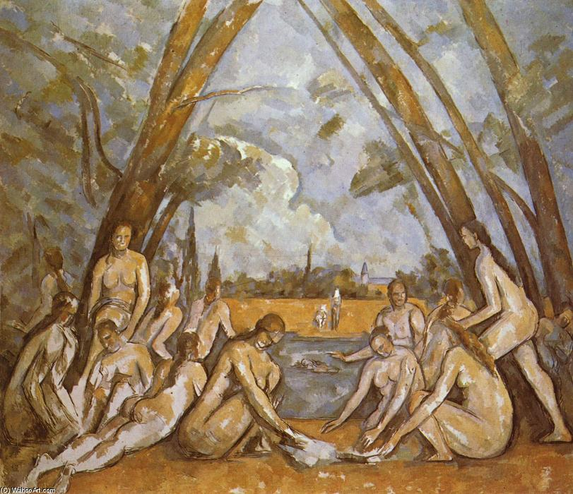 famous painting Grandes Banhistas of Paul Cezanne