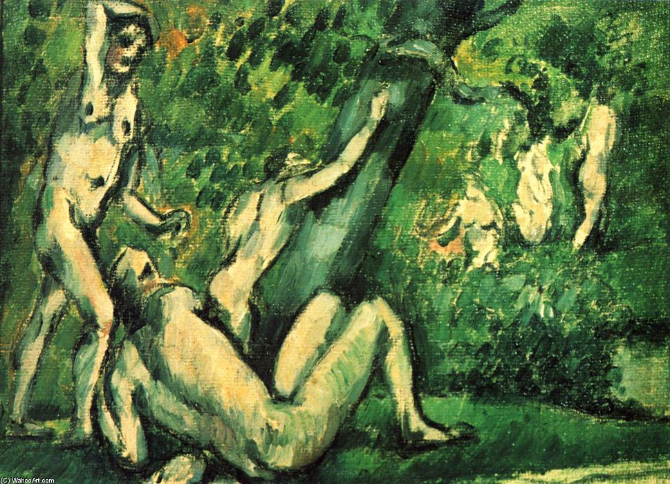 famous painting banhistas of Paul Cezanne