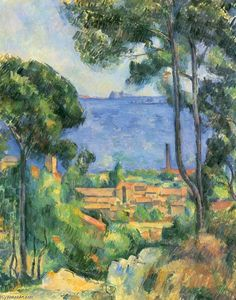 Paul Cezanne - Vista de L Estaque e Chateaux D If