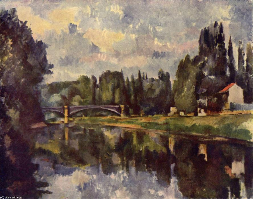 famous painting Ponte over marne of Paul Cezanne