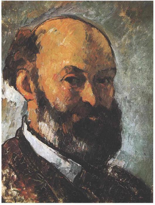famous painting retrato de auto 8 of Paul Cezanne