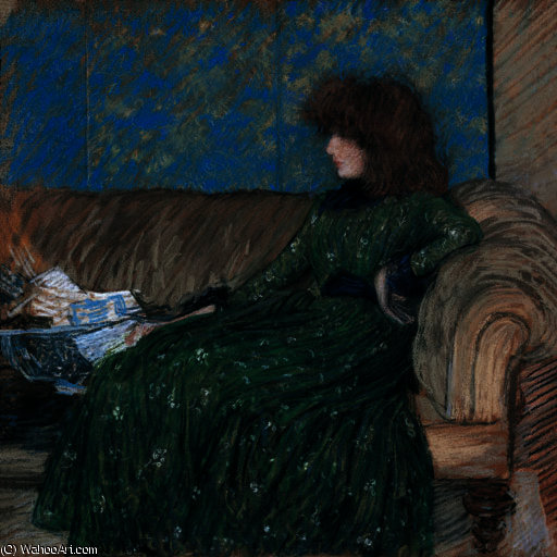 famous painting O sprigged Frock of Philip Wilson Steer
