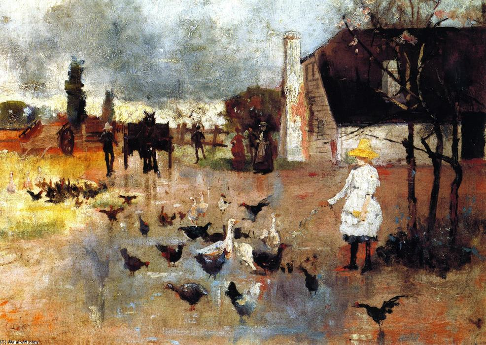 famous painting chá TEMPO of Charles Edward Conder