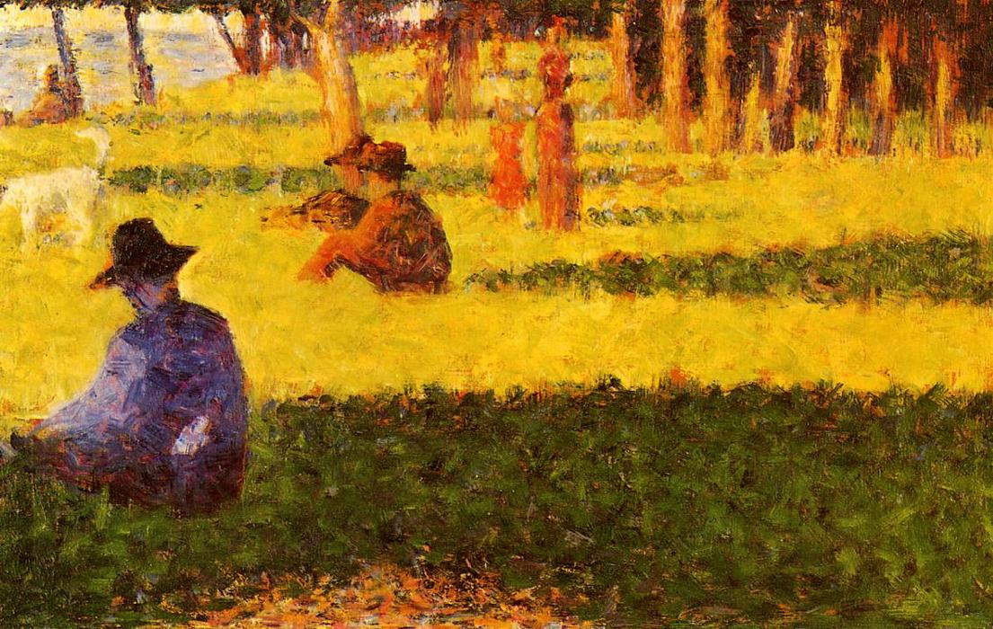 famous painting Branco cão  of Georges Pierre Seurat