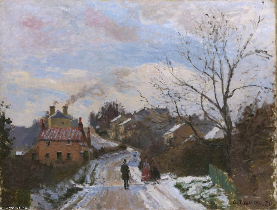 famous painting Raposa monte , superior norwood of Camille Pissarro