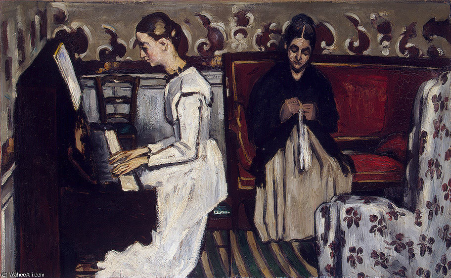 famous painting Menina no piano , ca eremitaget of Paul Cezanne