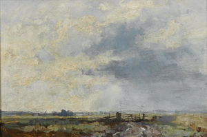 Edward Seago - O portão, st. benet do pântano, Norfolk
