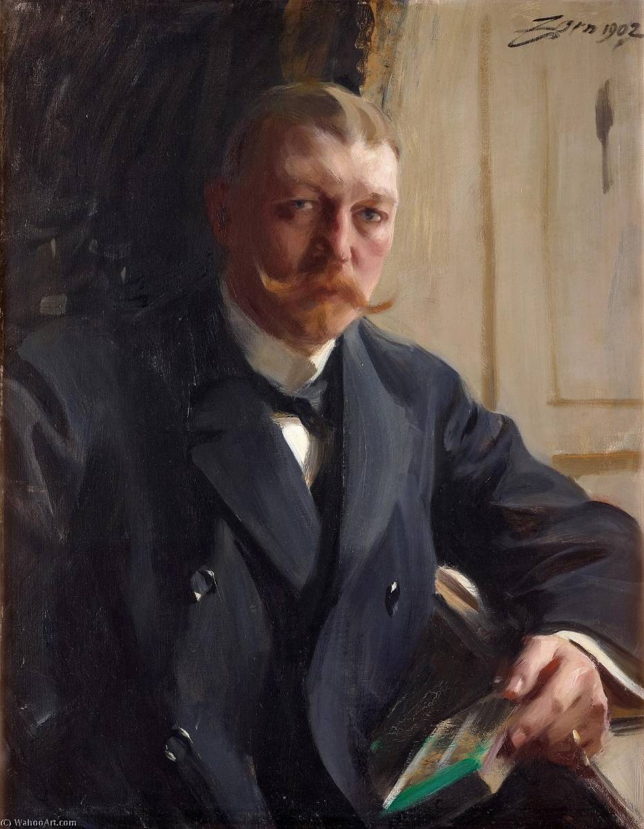 famous painting franz heiss of Anders Leonard Zorn