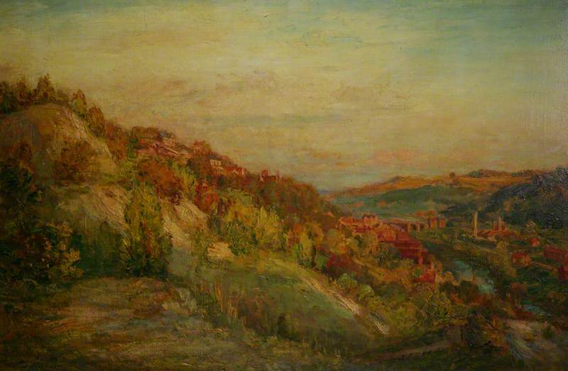 famous painting o Deserta Pedreira , Ironbridge of Philip Wilson Steer
