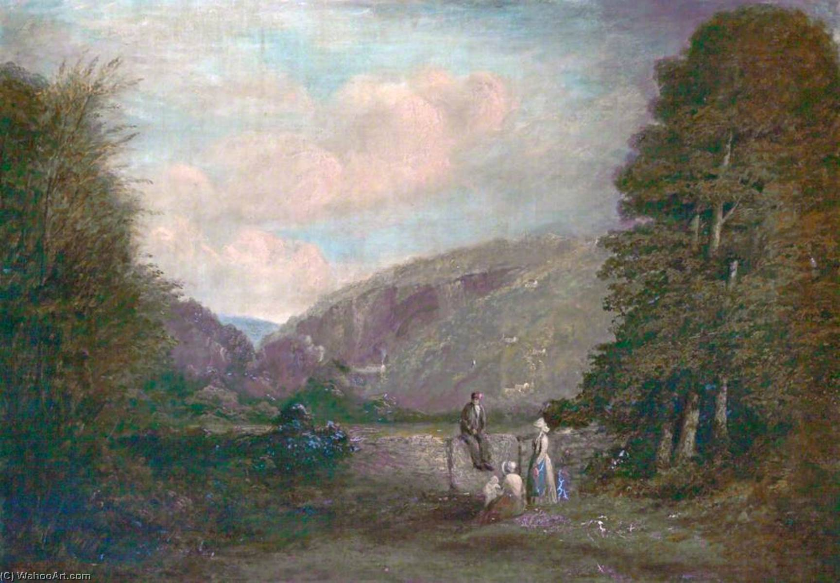 famous painting symonds yat , Herefordshire of Philip Wilson Steer