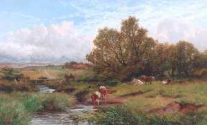 James Peel - paisagem com vacas